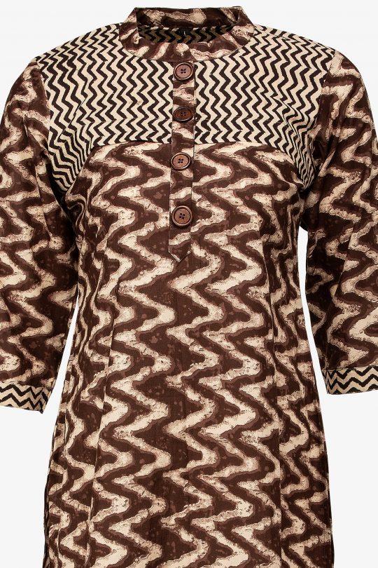 ZigZag Brown Tunic