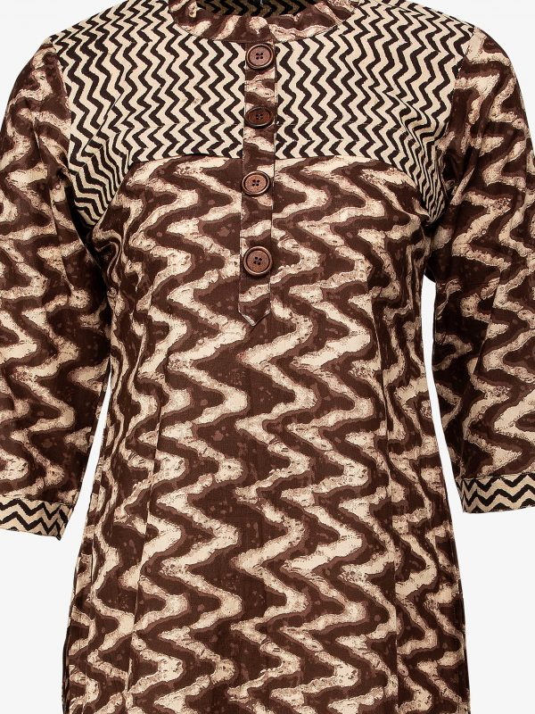 ZigZag Brown Tunic