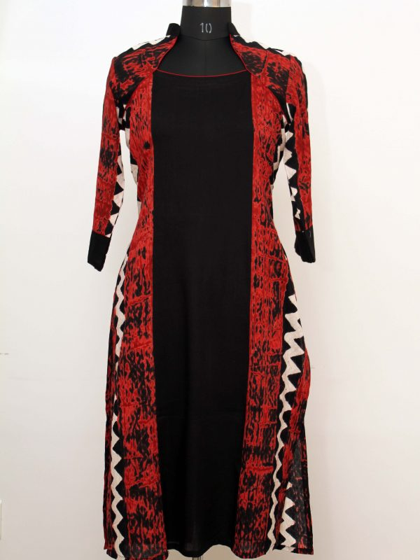 Black And Red Tunic