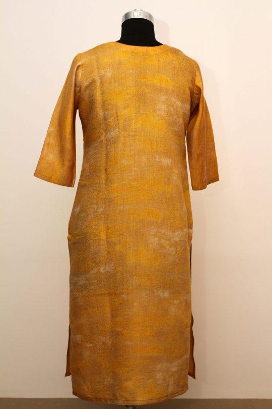 Bell Sleeve Cotton Dress