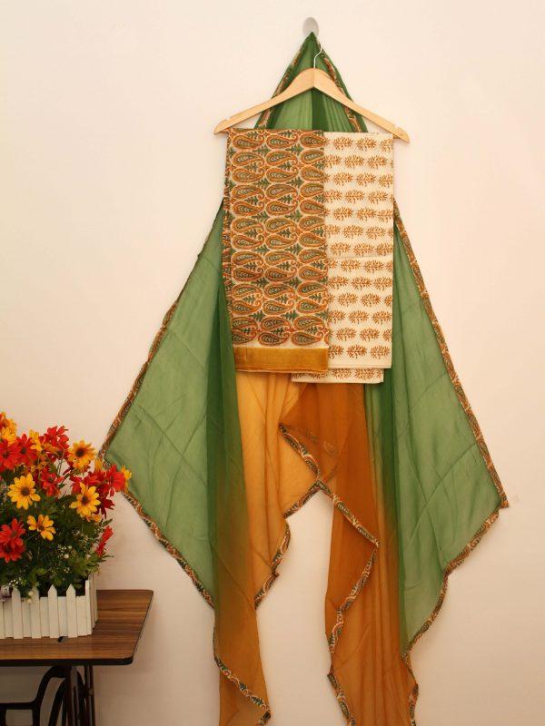 Chanderi Yellow Suit