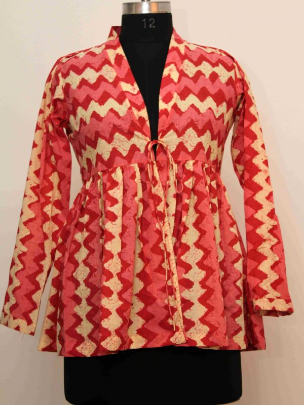 Cotton Zigzag Jacket