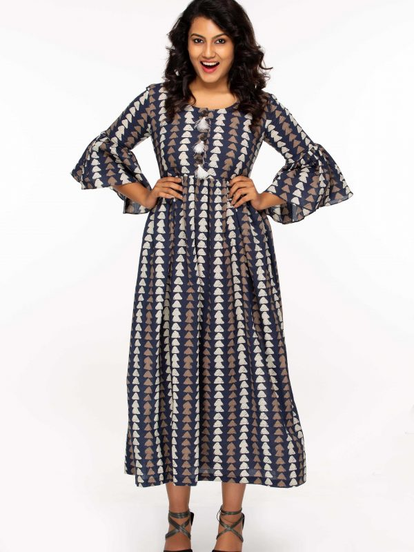 Block Printed Maxi Dress