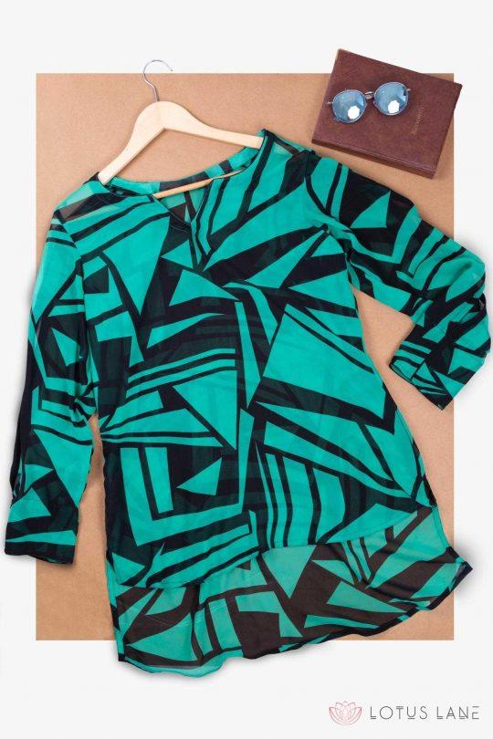 Printed Georgette Work Wear Top