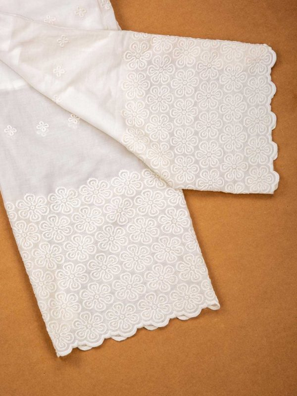 White Cotton Acoba Palazzo Pant