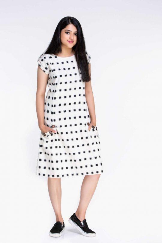 Knee Length Dress For Office Wear