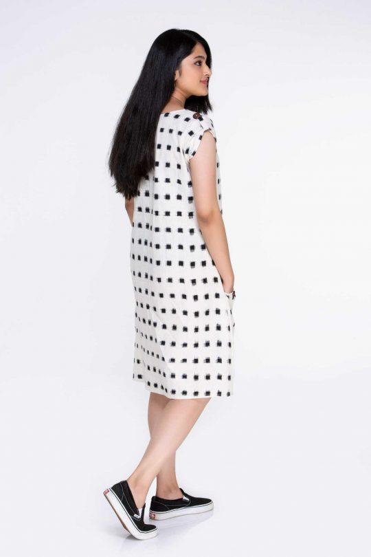 100% Cotton Knee Length Dresses
