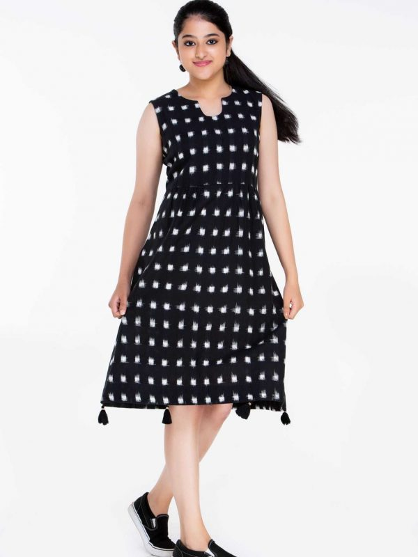 Black and White Ikat Dress