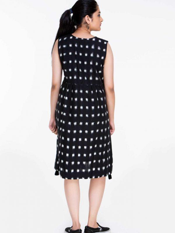 Ikat Knee Length Dresses