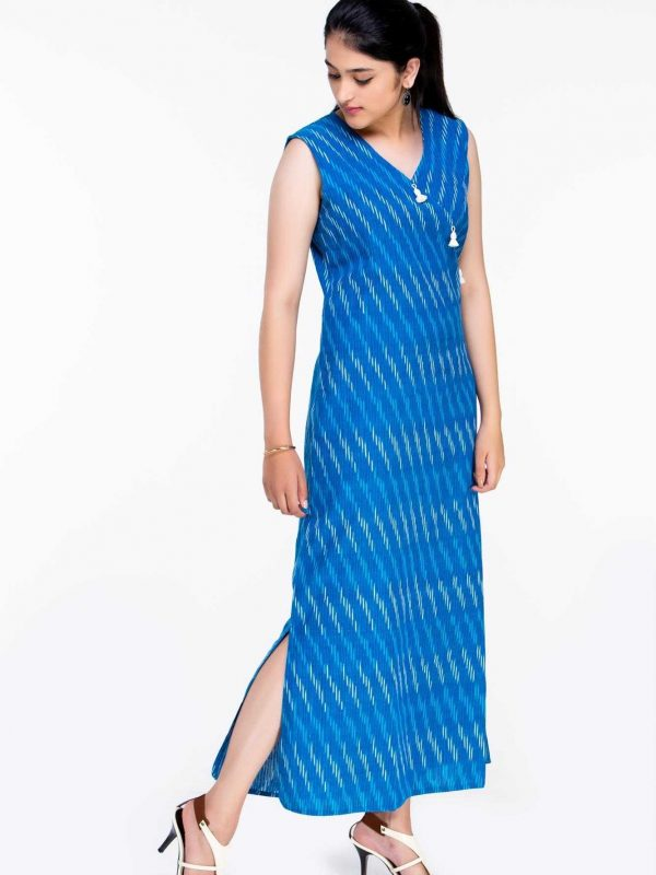 Cotton ikat Maxi Dress