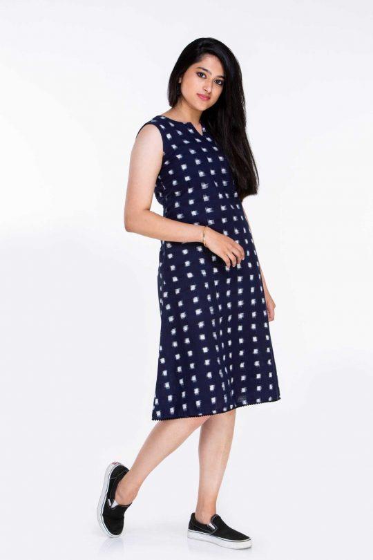 100% Cotton Knee Length Dress
