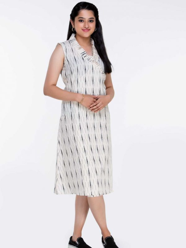 White Ikat Dress