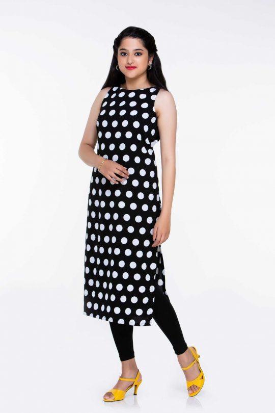 Black and White Polka Dress