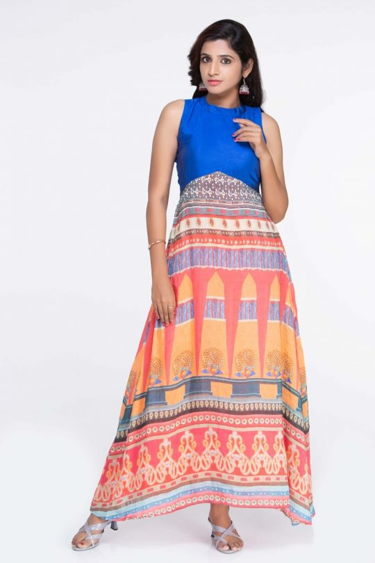 Raw Silk Maxi Dress