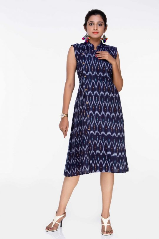 Navy Blue Ikat Dresses