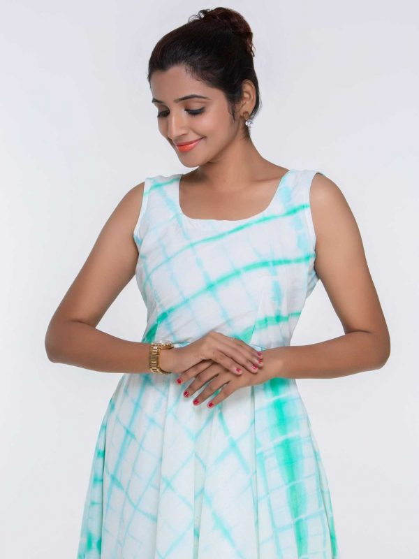 Green Cotton Maxi Dress