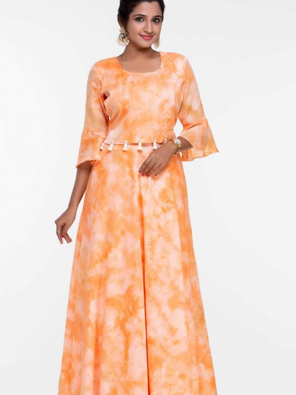 Cotton Party Wear Gown