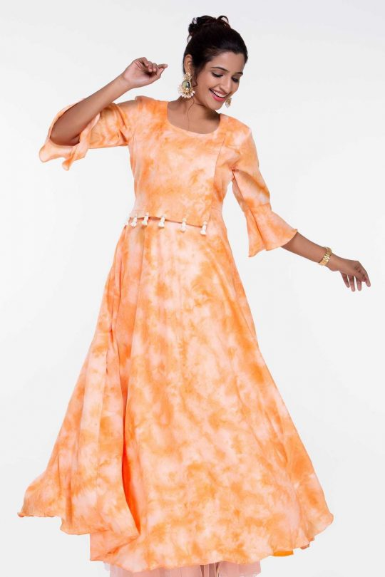 Orange Cotton Gown