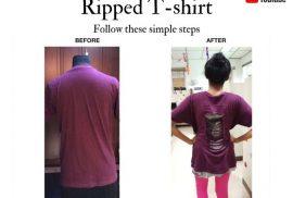 Ripped T-shirt