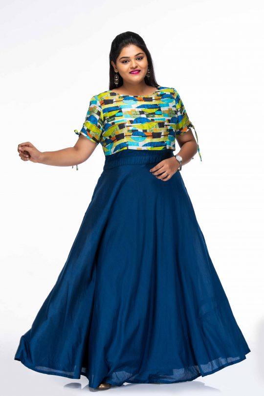 BLUE DHALIA PLUS SIZE MAXI DRESS WITH OVERCOAT