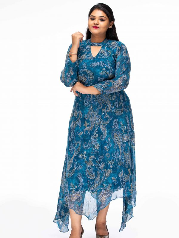 TRUE ROMANCE SHEER PLUS SIZE MAXI DRESS