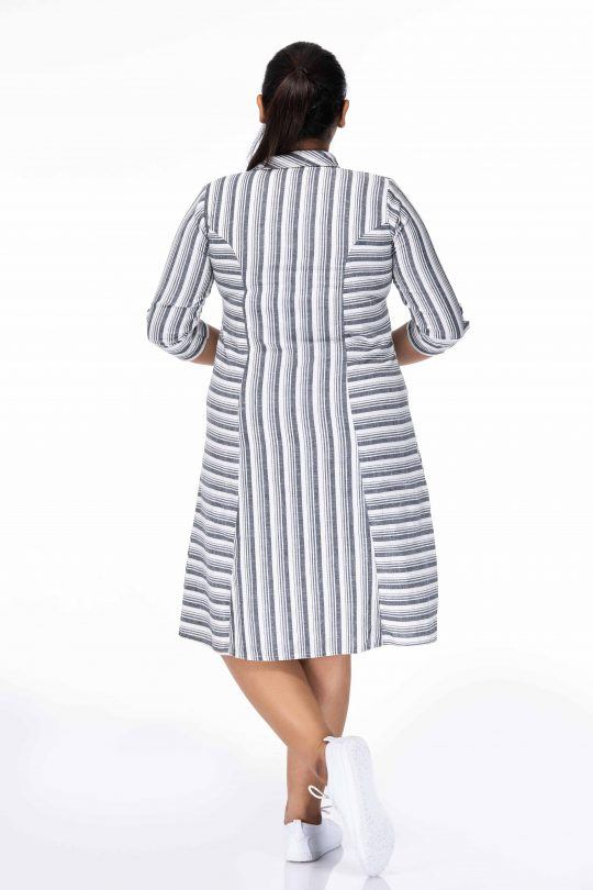 CLASSIC BLACK & WHITE CHECKED PLUS SIZE DRESS
