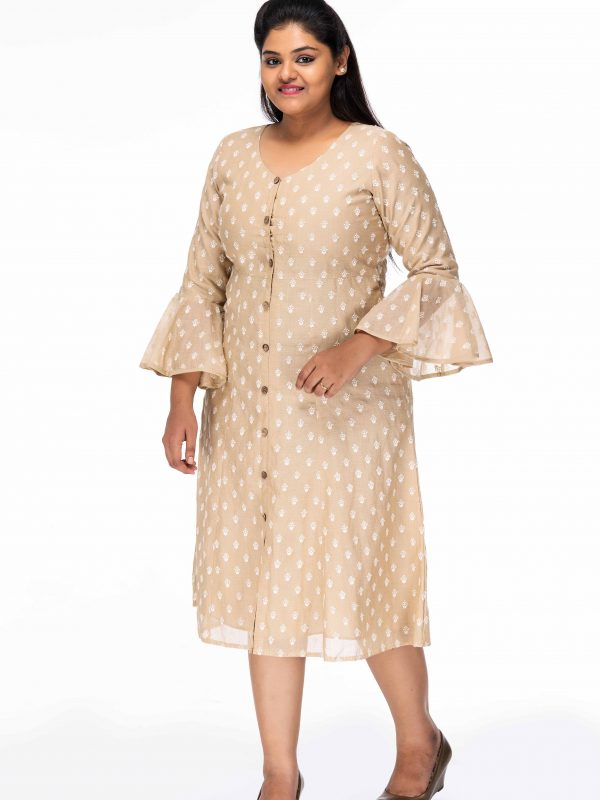 ELEGANT BELL SLEEVE PLUS SIZE DRESS