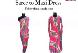 Old Saree To Maxi Dress
