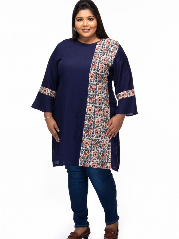Plus size Blue treasure Ajrakh tunic