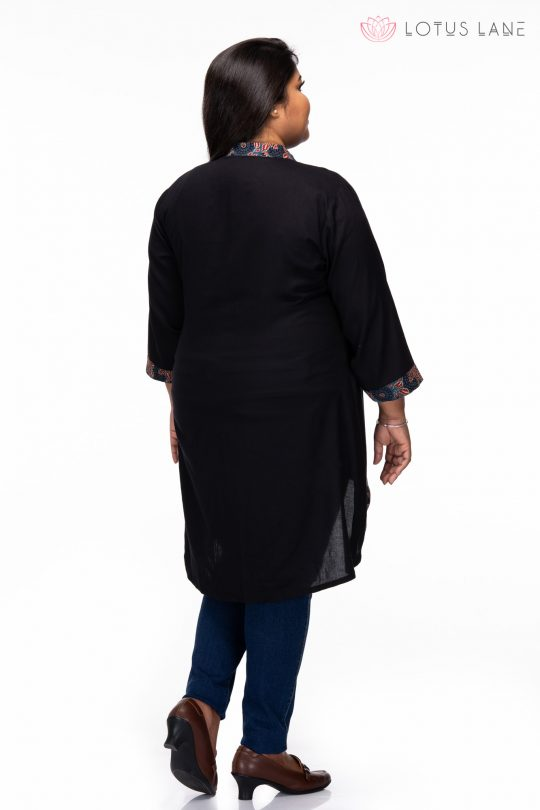 plus size Relaxed fit Tunic Back