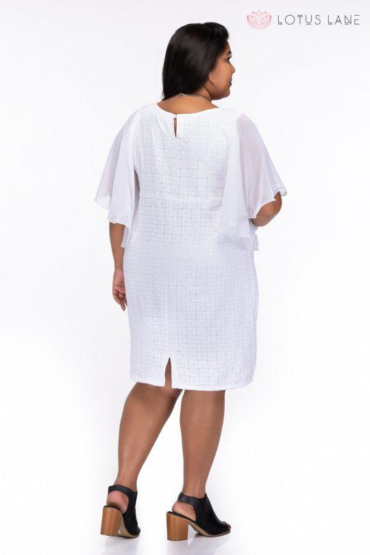 Plus size Love always white cotton dress