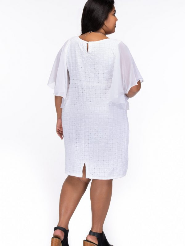 Plus size Love always white cotton dress