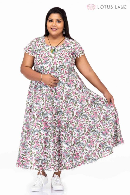 Plus size Fashion passion cotton dress