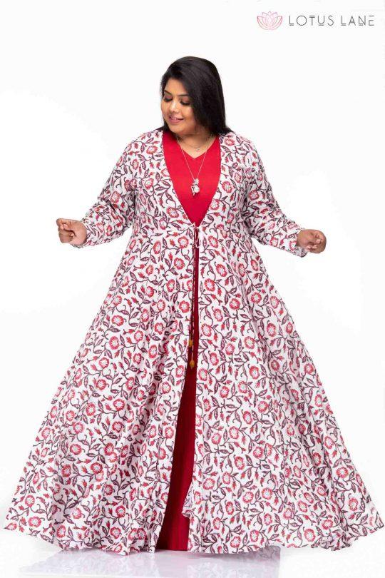 Plus size Celebrations hand block print dress