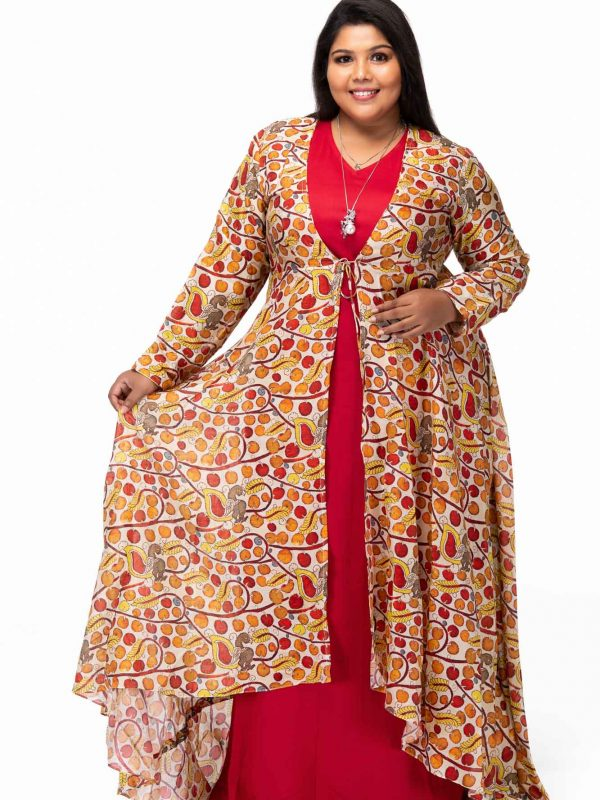 Celebrations Rayon Dress with Jacket - pose1