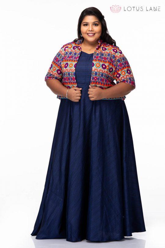 Plus size Evening dreams blue party wear dress