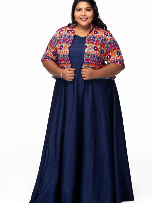 Plus size Evening dreams blue party wear dress