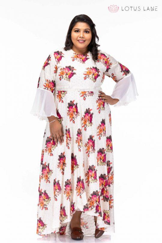 Moonlit Night Floral Maxi Dress - Pose2