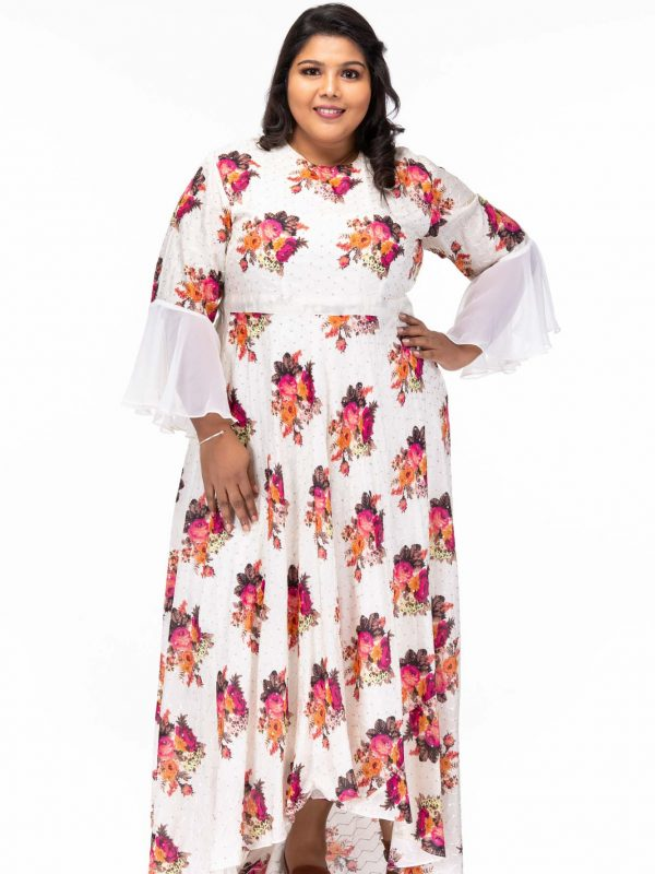 Moonlit Night Floral Maxi Dress - Pose2