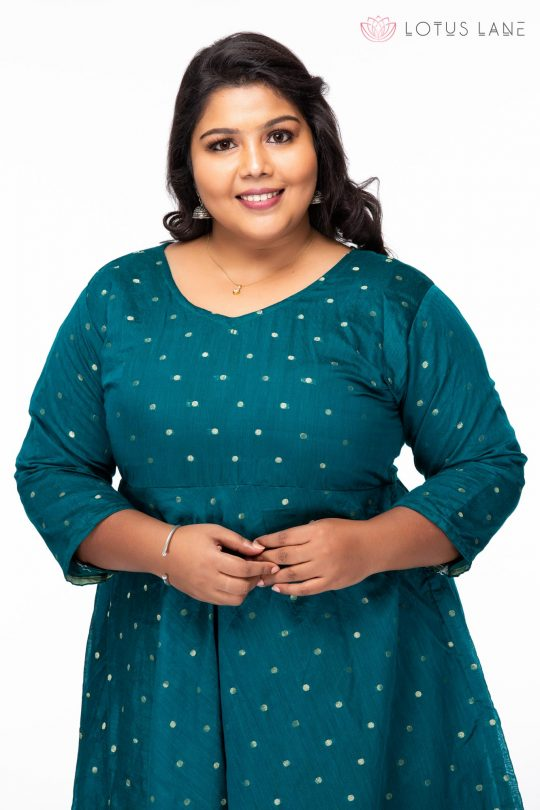 Plus size Stay chic Green Party wear dress