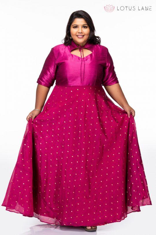 Plus size Dreamy Pink Plus Size Party Wear Dress