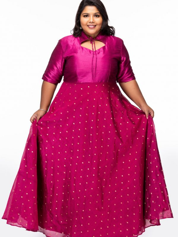 Plus size Dreamy Pink Plus Size Party Wear Dress