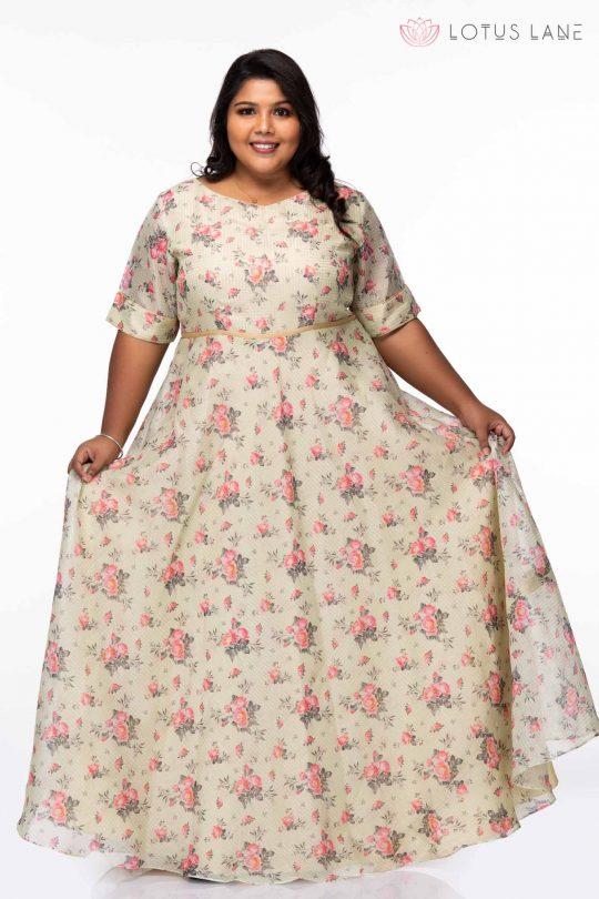 Plus Size Spring Garden Maxi Dress