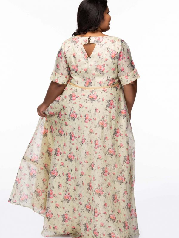 Plus Size Spring Garden Maxi Dress
