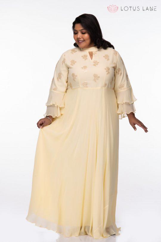 Plus Size Sweet Love Yellow Maxi Dress
