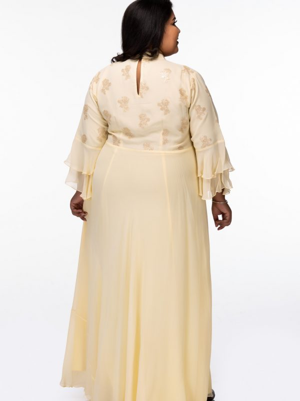 Plus Size Sweet Love Yellow Maxi Dress