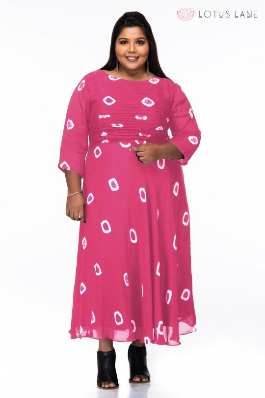 Plus Size Simply Blue Pink Dress