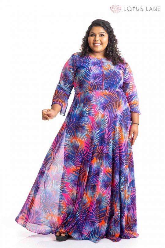 Plus Size Dress - Blue