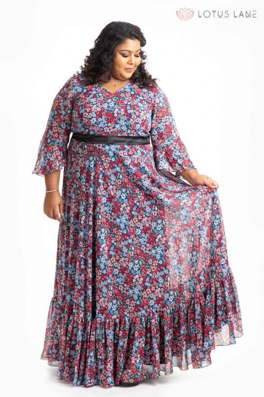 Plus Size Dress - Navy Blue