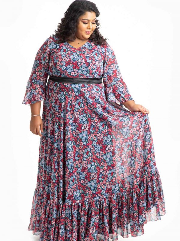 Plus Size Dress - Navy Blue